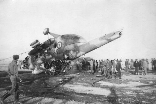 DRAAF suffered many losses for non combat reasons like this Mi-8T crashed on take off from Kabul airport in 1983