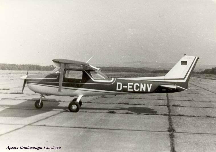 Самолет-нарушитель Cessna-150 D-ECNV принужденный к посадке звеном Ми-24 на ВПП полигона Эйзенах 13.09.1985